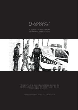 persecución y acoso policial - Brigadas Vecinales de Observación