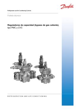 Reguladores de capacidad (bypass de gas caliente), tipo PMC y