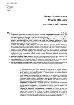 Boletin 536.zb Gai Zerrenda Avance de actividades colegiales