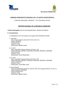 Reporte Nacional de Argentina