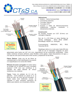 Folleto CTS - Draka - Fibra Optica