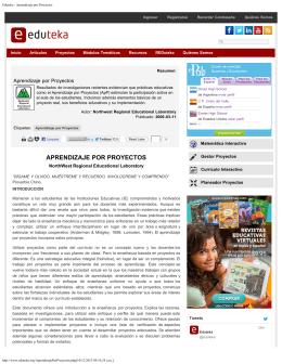 Eduteka - Aprendizaje por Proyectos - UNID