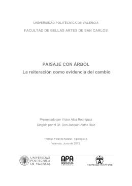 Paisaje con árbol - RiuNet - Universidad Politécnica de Valencia