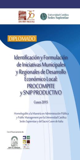Identificación y Formulación de Iniciativas Municipales y Regionales