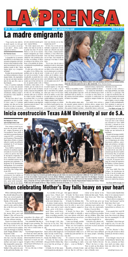 La madre emigrante - La Prensa De San Antonio