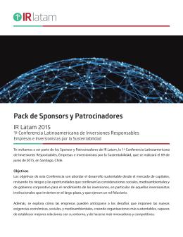 Descargar Sponsorship Pack - Conferencia Latinoamericana