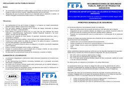 recomendaciones de seguridad para el empleo de productos
