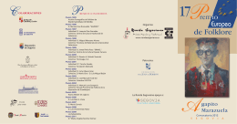 "17º Premio Europeo de Folklore ""Agapito"