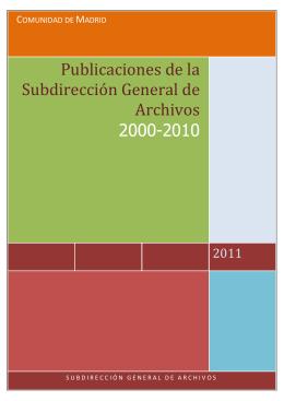 Publicaciones 2000 – 2010