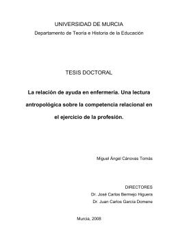 UNIVERSIDAD DE MURCIA TESIS DOCTORAL La relación de