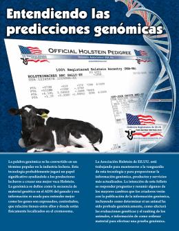 Entendiendo las predicciones genómicas