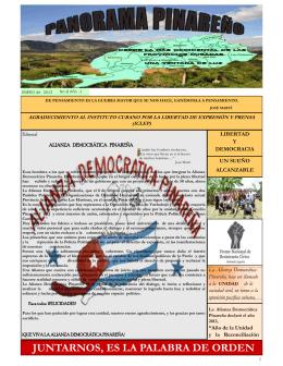 Panorama 8, Ene. 2013 - Observatorio Cubano de Derechos