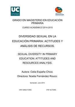 diversidad sexual en la educación primaria