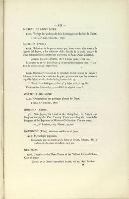 MOREAU DE SAINT MERY. 1400. Voyage de l`ambassade de la