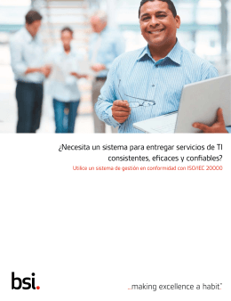 Manual del Ciente ISO/IEC 20000