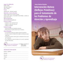 Intervención Motora - Centro de fisioterapia global e integrativa