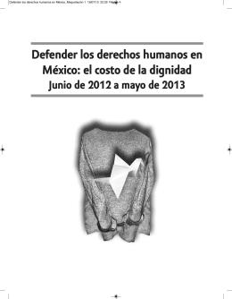 DefenDer los Derechos humanos en méxico: el costo