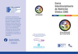 folleto - AANEP . Asociación Argentina de Nutrición Enteral y