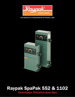Calentador Spa Pak de Raypak, descarga el folleto