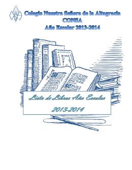 Lista de libros 2013-2014 - Colegio Nuestra Señora de la Altagracia