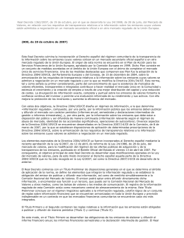 Real Decreto 1362/2007, de 19 de octubre