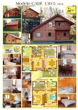 Modelo CADÍ 130-5 Ideal - casas de madera la llave del hogar