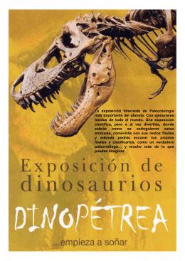 Folleto Exposición de Dinosaurios