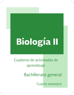 Biología II - DGB - Secretaría de Educación Pública