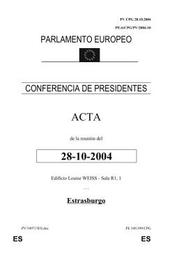 ACTA 28-10-2004