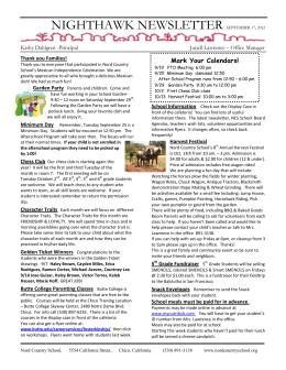 nighthawk newsletter september 17, 2012