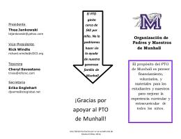 ¡Gracias por apoyar al PTO de Munhall!