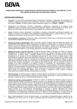 Condiciones Generales Pago de Sueldos- Versión Junio