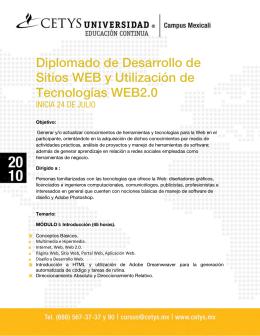 Diplomado de Desarrollo de Sitios WEB y Utilización de