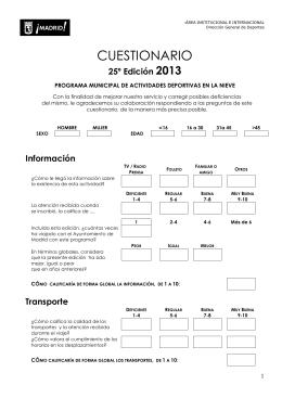 Cuestionario adultos - Ayuntamiento de Madrid