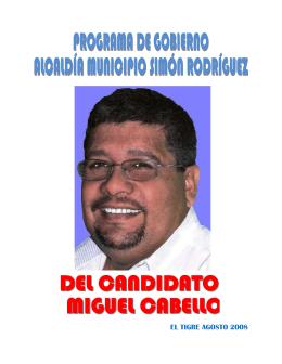 EL TIGRE AGOSTO 2008 - Consejo Nacional Electoral