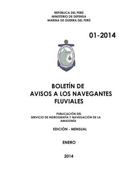 01-2014 boletín de avisos a los navegantes fluviales