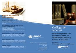 Catálogo de servicios