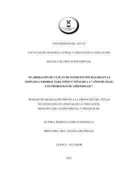 universidad del azuay facultad de filosofía, letras y ciencias de la