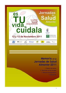 Memoria de las Jornadas de Salud Almonte-2011