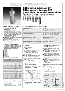 Filtro para tuberías LF Filtro para tuberías LFF para flujo