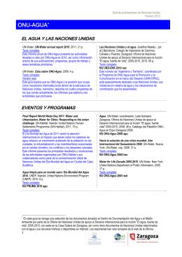 Guía de lectura publicaciones de Naciones Unidas