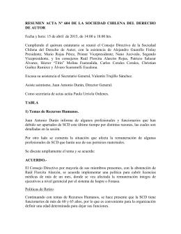 Resumen Acta nº607-608-609 – 20 de Mayo a 10 de Junio 2015