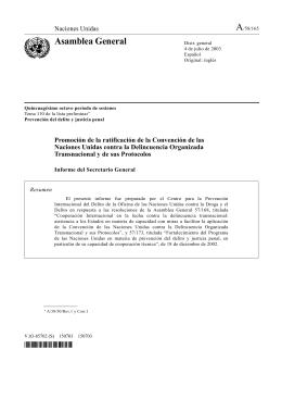 Promoción de la ratificación de la Convención de las Naciones