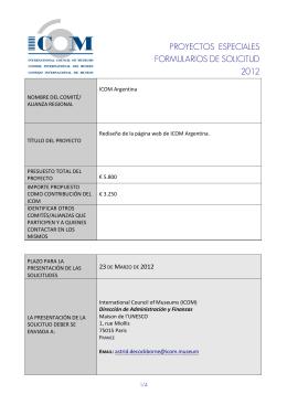 proyectos especiales formularios de solicitud 2012