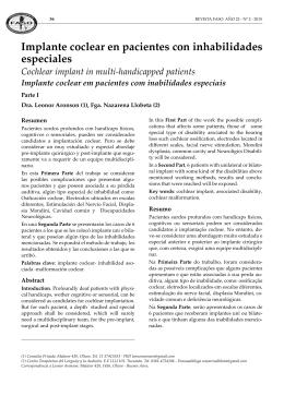 Implante coclear en pacientes con inhabilidades especiales