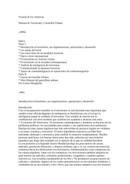 Escuela de las Americas Manual de Terrorismo y Guerrilla