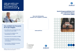 Zurich Responsabilidad Civil para Administradores y Directivos