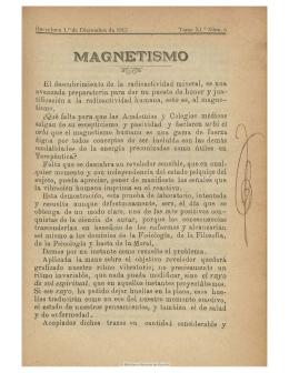 MAGNETISMO - Iapsop.com