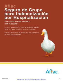 Aflac Seguro de Grupo para Indemnización por Hospitalización