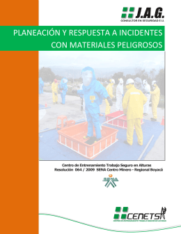 planeación y respuesta a incidentes con materiales